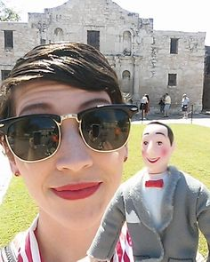 I helped my friend look for his bike at the Alamo. Did you know that place doesn't have a basement?