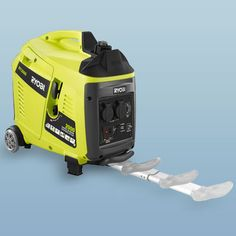 Portable inverter Generator by Ryobi. runs 4 plus hours on a tank of gas. $600