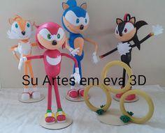 su artes em eva: Turma do Sonic em eva 3d
