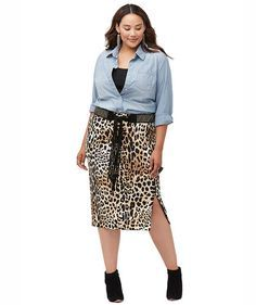 Be the cat's meow in a sleek, animal-print pencil skirt. Pair it with a simple black top for a purr-fect work-party costume. A cat-ear headband is all you need to make the transition from office to ocelot. (Face-painted whiskers optional!).