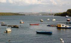 The Danube River in Zemun, Belgrade, Serbia