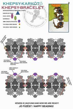 KHEPSY Bracelet - FREE Pattern. Page 2/2. By Ewa Design