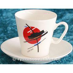 Espressokopp med målning av JTI Sujetin.