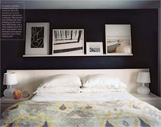 Love the frames above the bed. I'm gonna do this.