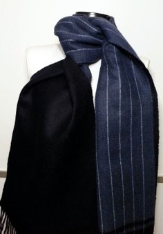Scarf Cashmere Men's Scarf Dark Blue and Blue Scarf by PeraTime #handmadeatamazon #nazodesign