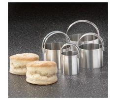 RSVP Plain Edge Round Biscuit Cutters, Set of 4 | CHEFScatalog.com