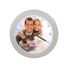 Foto zegar ścienny z dowolnym zdjęciem
