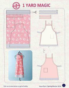 1 Yard Magic Apron from Lecien Fabrics! {free pattern} — SewCanShe | Free Daily Sewing Tutorials