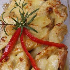 Sajtos-almás csirkemell Recept képpel - Mindmegette.hu - Receptek