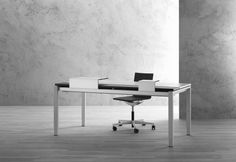 Manufactured in Switzerland, the workstation is an office system designed by Denz. Focused around organization, this desk is much more functional than meets the eye. Minimalist Furniture, Clutter, Switzerland, Home Office, Lust, Minimalism, Hate, Milk, Design Inspiration