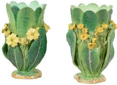 1STDIBS.COM - Bardith - Minton - A Pair of MInton Spill Vases - Polyvore