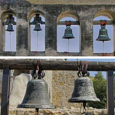 Quick Guide to San Juan Capistrano: for Visitors and Students: Mission San Juan Capistrano Mission Bells Picture California Missions, California Love, California Dreamin', Beautiful Places To Visit, Wonderful Places, Places To See, Mission Bell, Bell Pictures, Mission San Juan Capistrano