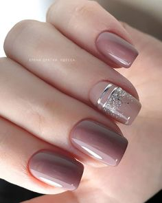 40 Newest Short Nail Art Design Don't Miss In spring And summer – Page 3 – Nailmon Classy Nails, Stylish Nails, Trendy Nails, Cute Nails, Pink Nails, My Nails, Fall Nails, Nagellack Design, Short Nails Art
