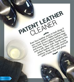 A foolproof, at-home remedy to de-scuff patent leather apparel. #SaveMoney #DIYHome #HouseholdTips #PatentLeatherCleaner #NaturalPolish #Patent #Leather #Cleaner