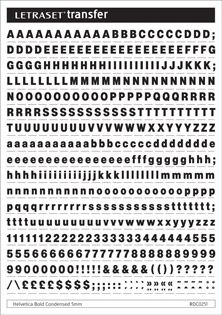 Letraset - Helvetica Bold Cond