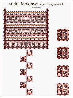 SEMNE CUSUTE pe camasa cu croiala dreapta | Semne Cusute | Bloglovin Beading Patterns, Cross Stitch Patterns, Knitting Patterns, Folk Embroidery, Embroidery Patterns, Blackwork, Swedish Weaving, Folk Fashion, Moldova
