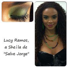 Olha só como ficou linda a sombra verde na Lucy Ramos, a Sheila de Salve Jorge!