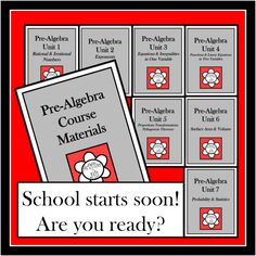 All of my Pre-Algebra course materials are now available bundled at a discounted price! Bell work, notes, instructional activities, study guides, tests, and more are included. This is a versatile collection of materials that may be used for Pre-Algebra students of varying abilities at multiple grade levels.