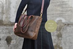 SALESALE SALE Distressed Leather Cross Body by NellHarperLeather