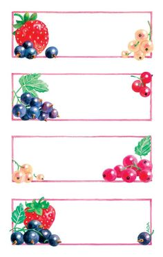 Avery Zweckform Z-Design No. 59550 papír matrica befőttes üvegre - gyümölcs mintával és színes kerettel - kiszerelés: 3 ív / csomag (Avery Z-Design 59550) Jam Jar Labels, Jam Label, Canning Labels, Circle Labels, Fun Crafts For Kids, Printable Labels, Vintage Labels, Baby Play, Watercolor Cards