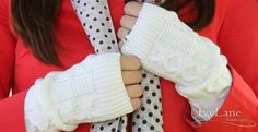 Adorable Knit Arm Warmers