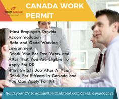 Work in Canad now!! send me your CV admin@zoomabroad.com