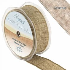 Latte Country Hessian Ribbon