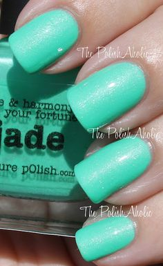 piCture pOlish Jade (is a gorgeous jade green with a subtle silver shimmer)