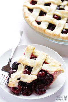 Sweet Cherry Pie Recipe | gimmesomeoven.com I also like to put the cherry filling in cored apple halves for a low carb gluten free option! Plus... it's YUMMY!