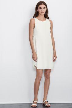 EUGENIA STRETCH JERSEY DRESS IN CREAM, Velvet by Graham and Spencer. https://velvet-tees.com/women/the-latest/new-arrivals/eugenia-stretch-jersey-dress-in-cream.html