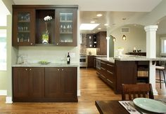 cabinet color/floor color. drawer pulls.  Contemporary Kitchen Design Ideas, Pictures, Remodel and Decor