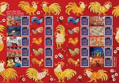 Lunar New Year of the Rooster – Royal Mail  Royal Mail issued Year of the rooster Collector Sheet, fifth in a series of Souvenir Sheets celebrating the Lunar New Year.
