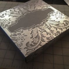 Silver Wedding Invitation Box
