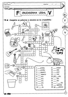 BAUZINHO DA WEB - BAÚ DA WEB Desenhos para colorir pintar e Atividades Escolares: Atividades de português para o 5º ano: ortografia emprego de v ou f