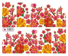 1 Sheet Superior Flowers Easy Attach Self Adhesive 3D Painting Nail Art Stickers Color Code09 -- Check out this great product. This Amazon pins is an affiliate link to Amazon.
