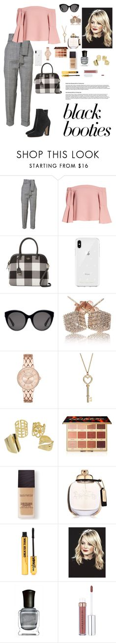 """""""Day Date"""" by ana-flower ❤ liked on Polyvore featuring Topshop, Kate Spade, Rebecca Minkoff, Gucci, tarte, Laura Mercier, Coach, Nasty Gal and Deborah Lippmann"""