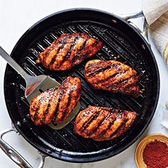 Spice-Rubbed Grilled Chicken | (Quick and easy chicken rub - really good too. I used two chicken breasts and then grilled them. Really flavorful.) 9/16/2012