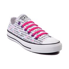 Shop for Converse All Star Lo Instaprint Sneaker in Multi Hashtags at Journeys Shoes. Converse Low Tops, Converse All Star, Converse Chuck Taylor All Star, Chuck Taylor Sneakers, Cute Sneakers, Converse Sneakers, Cute Shoes, Me Too Shoes, Journey Store