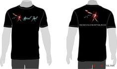 Aplicação em Camiseta Banda Appeal Rock.