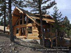 Handcut Custom Log Home | Moore Log & Timber Homes