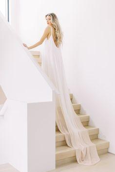 Fresco by Carol Hannah at Sash & Bustle - Dip Dye Wedding Dress, Colored Wedding Dress, Open Back Wedding Dress, Wedding Dresses, Wedding Events, Weddings, Wedding Beauty, Dream Wedding, Wedding Shoot