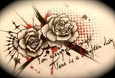 Rose Tattoo Trash Polka