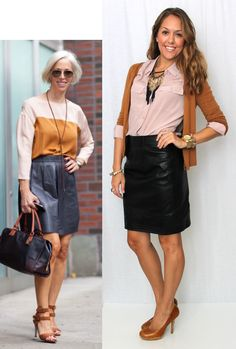 J's Everyday Fashion: Today's Everyday Fashion: The Leather Skirt