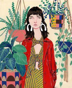 Proenza Schouler S/S 2017 Fashion Illustration by Bijou Karman