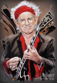 Keith Richards Mixed Media - Keith Richards 1 by Melanie D Keith Richards, Music Artwork, Art Music, Rock And Roll Bands, Rock N Roll, Rolling Stones Logo, Rock Poster, Play That Funky Music, Celebrity Drawings