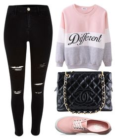"""Different"" by oaodaniela ❤ liked on Polyvore featuring Chanel and Vans"