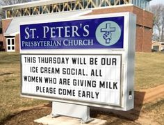 Hilarious and funny church signs from around the US (7.1)