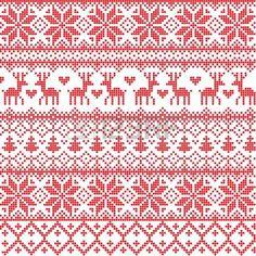 Illustriert traditionellen roten Nordic Muster photo