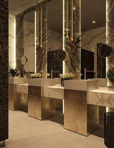 Western Home Decor Signature by Sanjeev Kapoor Restaurant Wc Design, Toilet Design, House Design, Washroom Design, Bathroom Design Luxury, Luxury Restaurant, Restaurant Design, Wc Public, Restaurant Bathroom