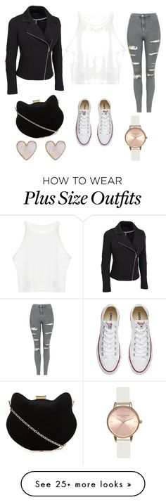 """""""Untitled #111"""" by pccd888 on Polyvore featuring Topshop, New Look, Converse, Olivia Burton and plus size clothing"""